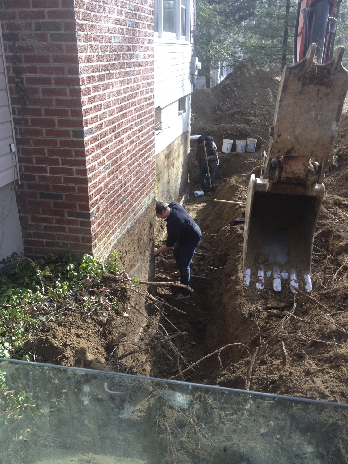 Basement waterproofing westchester ny foundation repair for Exterior drainage solutions